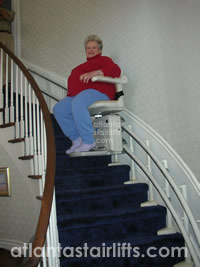 Sterling 2000 Stairlift installed by Atlanta Stairlifts